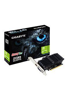 Placa video Gigabyte GeForce GT 710, 2GB GDDR5, 64-bit, Silent, LowProfile