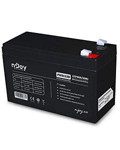 Acumulator VRLA nJoy, 12V 9Ah, PW9123D, conector F2/F2