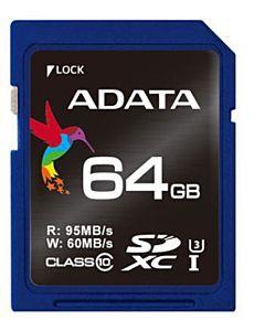 ADATA Premier Pro SDXC UHS-I U3 64GB (Video Full HD) retail