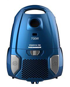 Aspirator cu sac Heinner HVC-MBL1400-V2, 700W, Sac textil, 3 L, Putere variabila, Filtru HEPA, Tub telescopic din metal, Accesoriu 2 in 1, Albastru