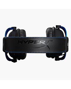 Casti cu microfon Kingston gaming, HyperX Cloud, Dedicate folosirii consoleleor PS4, Full size, Rama aluminiu, Microfon detasabil, Culoare: negru & albastru