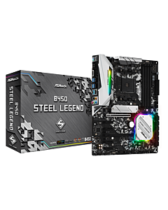 ASRock B450 STEEL LEGEND, AM4, DDR4 3533+, 6 SATA3, HDMI, DP, USB3.1
