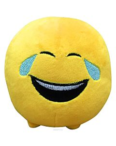 Jucarie de plus Emoticon Face with tears of joy, 11 cm