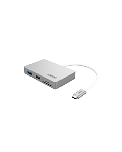 Hub Unitek Power Delivery 1xUSB Type-C, 2xUSB3.0, SD/microSD
