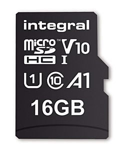 Integral 16GB MICRO SDHC 100V10, Read 100MB/s U1 V10 + ADAPTER