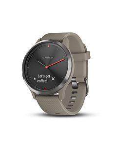 Smartwatch Garmin Vivomove HR Sport, Negru, Sandstone Silicone Band
