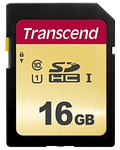 Memory card Transcend SDHC SDC500S 16GB CL10 UHS-I U1 Up to 95MB/S