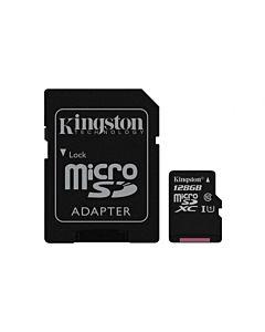 Micro Secure Digital Card Kingston, 128GB, Clasa 10, Adaptor SD