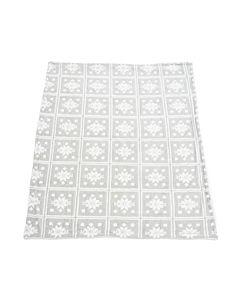 Patura fleece Gri Stars cu blanita 127x150 cm Material : 100% Poliester