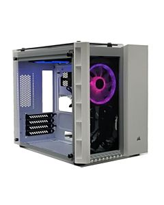 Carcasa Corsair Crystal Series 280X RGB Micro-ATX, Tempered Glass, White