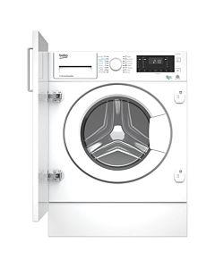 Masina de spalat rufe cu uscator incorporabila Beko HITY854310F, Wash & Wear, OptiSense, Motor ProSmart Inverter, Spalare 8 kg, Uscare 5 kg, 1400 rpm, Clasa A, Alb