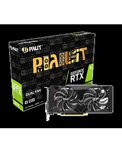 Placa video PALIT GeForce RTX 2070 DUAL, 8GB GDDR6, HDMI/3xDP/USB-C