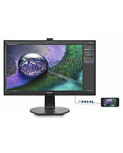 "Monitor LED Philips 27"" PowerSenzor, DVI, VGA, HDMI, DisplayPort272P7VPTKEB/00, ""Negru"