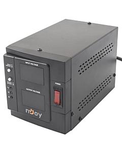 AVR nJoy Akin 1000, 1000VA/800W, cu releu, LCD Display, functie de intarziere la pornire, functie de selectie a tensiunii, 1 priza Schuko
