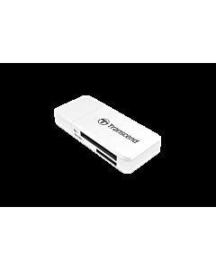 Transcend card reader USB 3.1 Gen 1 SD/microSD, white