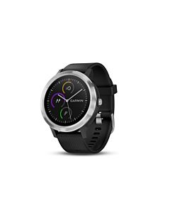 Smartwatch Garmin Vivoactive 3, GPS, Silver, Silicone Black