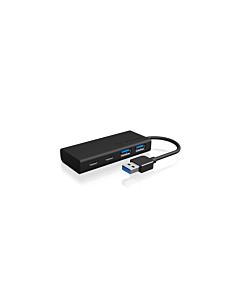 IcyBox 4x Port USB 3.0 Hub, 2x USB Type-C, 2x USB Type-A