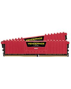 Corsair DDR4 8GB 2666MHz C16 KIT RED, Vengeance LPX, Memory kit 2x4GB, SPD Speed: 2133 MHz, Speed Rating: PC4-21300 (2666MHz), DIMM Format, Profile: XMP 2.0, Memory Pin: 288.