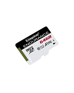 Card de memorie Micro SDXC Kingston, High Endurance, 64GB, CLASS 10 UHS-I, R/W 95/30 MBs
