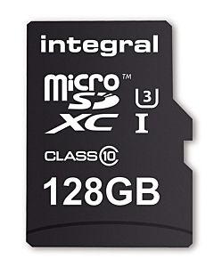 Integral MICRO SDXC 128GB (with Adapter to SD Card)