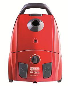 Aspirator cu sac Thomas Eco Power 785038, 700W, A, filtru lavabil HEPA13, rosu