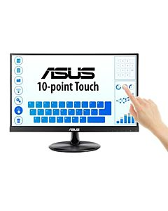 """Monitor LED IPS ASUS 21.5"""", 10-point Touch Monitor, HDMI, Flicker free, Low Blue Light, TUV certified, Negru, VT229H"""