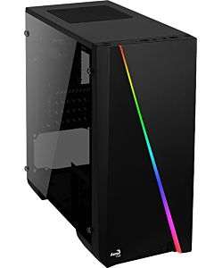Carcasa ATX Aerocool CYLON MINI RGB - USB3.0 TEMPERED GLASS fara sursa