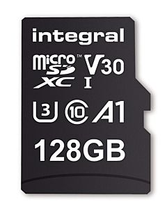 Integral 128GB MICRO SDXC 90V30, R:100MB/s W:90MB/s U3 V30 + ADAPTER