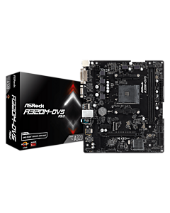 ASRock A320M-DVS R3.0, AM4, 2xDDR4 3200+, DVI-D, D-Sub, USB3.1