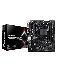 ASRock A320M-HDV R3.0, AM4, 2xDDR4 3200+, HDMI, DVI-D, D-Sub, USB3.1