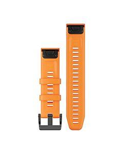Curea ceas smartwatch Garmin Fenix 5 Plus 22mm, QuickFit, Silicon, Spark Orange