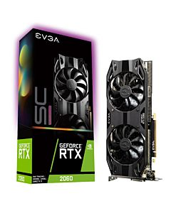 EVGA GeForce RTX 2060 SC ULTRA GAMING, 6GB GDDR6, Dual HDB Fans