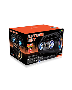 U-TUBE BT - portable active speaker system combined with karaoke feature, 18W