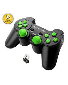Gamepad ESPERANZA GLADIATOR EGG108G, vibratii, wireless, PC/PS3