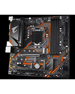 Placa de baza Gigabyte AORUS cu chipset Intel B365, RGB Fusion 2.0 cu Digital LED, Intel GbE LAN, Dual M.2, Ultra Durable PCIe Armor, Smart Fan 5, DualBIOS,