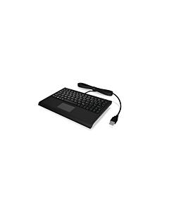 IcyBox KeySonic Mini keyboard, smart touchpad, USB, Black