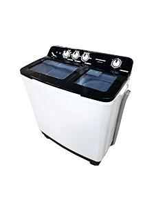 Masina de spalat rufe semiautomata Heinner HSWM-104BK, 10 Kg, 4.6 Kg, Alb/Negru