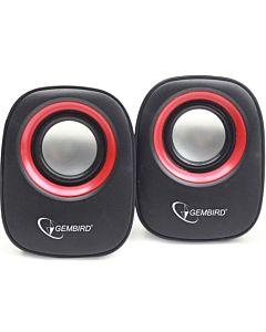 Gembird stereo speaker SPK-107A, black/red