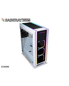 Carcasa PC Enermax Saberay RGB, alb, fara sursa