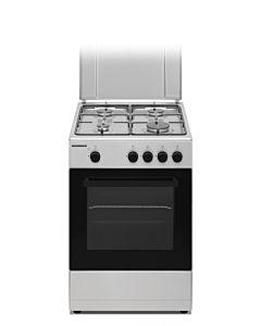 Aragaz Heinner HFSC-S50-SL, 4 Arzatoare, Gaz, Siguranta plita/cuptor, 50 cm, Silver
