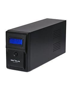 UPS Serioux 1500VA, Line Interactive, 3 porturi Schuko, 1500VA/900W