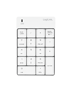 LOGILINK - Wireless keypad, 2.4 GHz, white