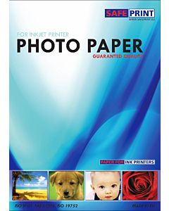 Photopaper SafePrint Ink glossy, self-adhesive, 135g, A4, 20 sheets