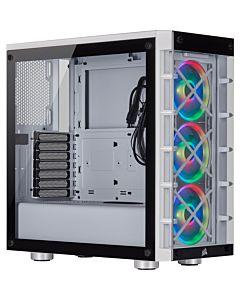 Corsair computer case iCue 465X RGB Mid Tower ATX Smart Case, 3xLL120 RGB, White