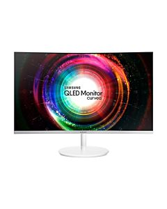 Monitor Samsung LC27H711QEUXEN, 27'', WQHD, VA, Curved, white, Q-Dot, FreeSync