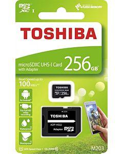 Toshiba memory card Micro SDXC 256GB M203 Class 10 UHS-I + Adapter