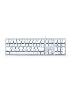 Gembird KB-MCH-02-W Multimedia ''chocolate'' keyboard USB, US layout, white