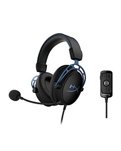 Casti cu microfon Kingston gaming, HyperX Cloud Alpha S, Full size, Bass adjuster, 15-27000Hz, 65 Ohm, Cablu: 1m, Jack 3.5mm, Cablu USB mixer: 2m, Culoare: neagra