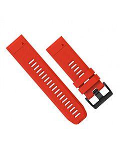 Curea Ceas Smartwatch Garmin Fenix 3 si 5X, Silicon, Rosu