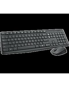 Logitech MK235 Wireless Keyboard and Mouse Combo, GREY, US